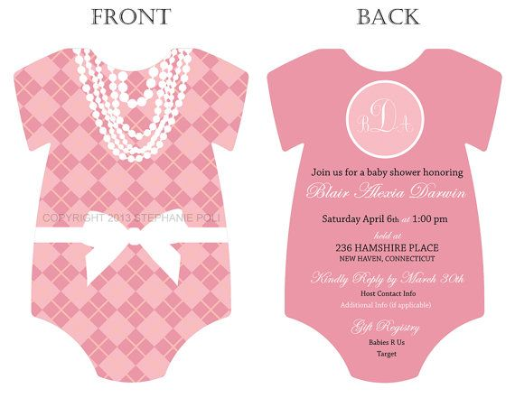 It's just a graphic of Printable Onesie Baby Shower Invitations for cake