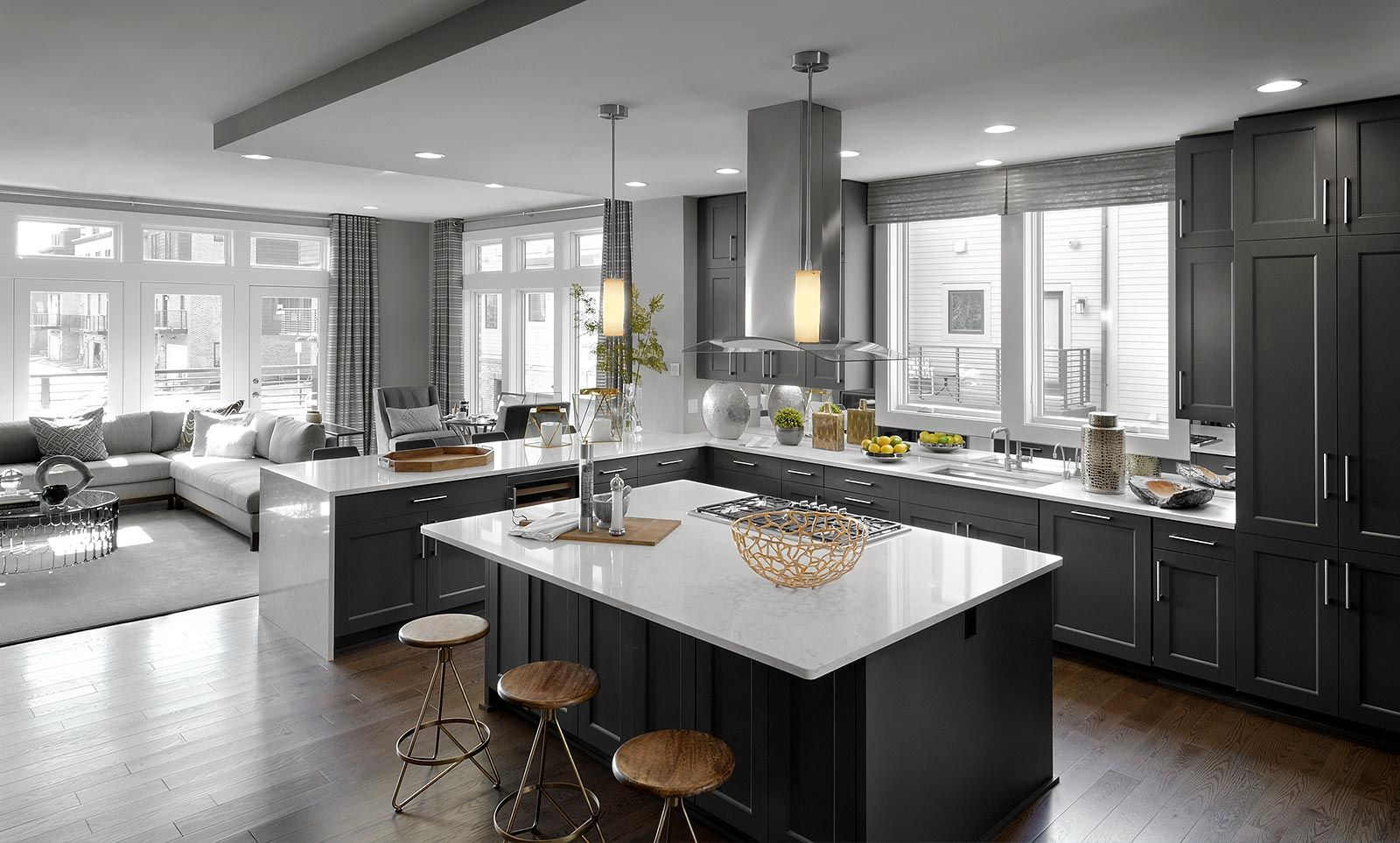 Our Cameron Model At Our New Grosvenor Heights Neighborhood In Bethesda, MD  Features This Fantastic, Spacious Kitchen Built For Any Special Occasion.
