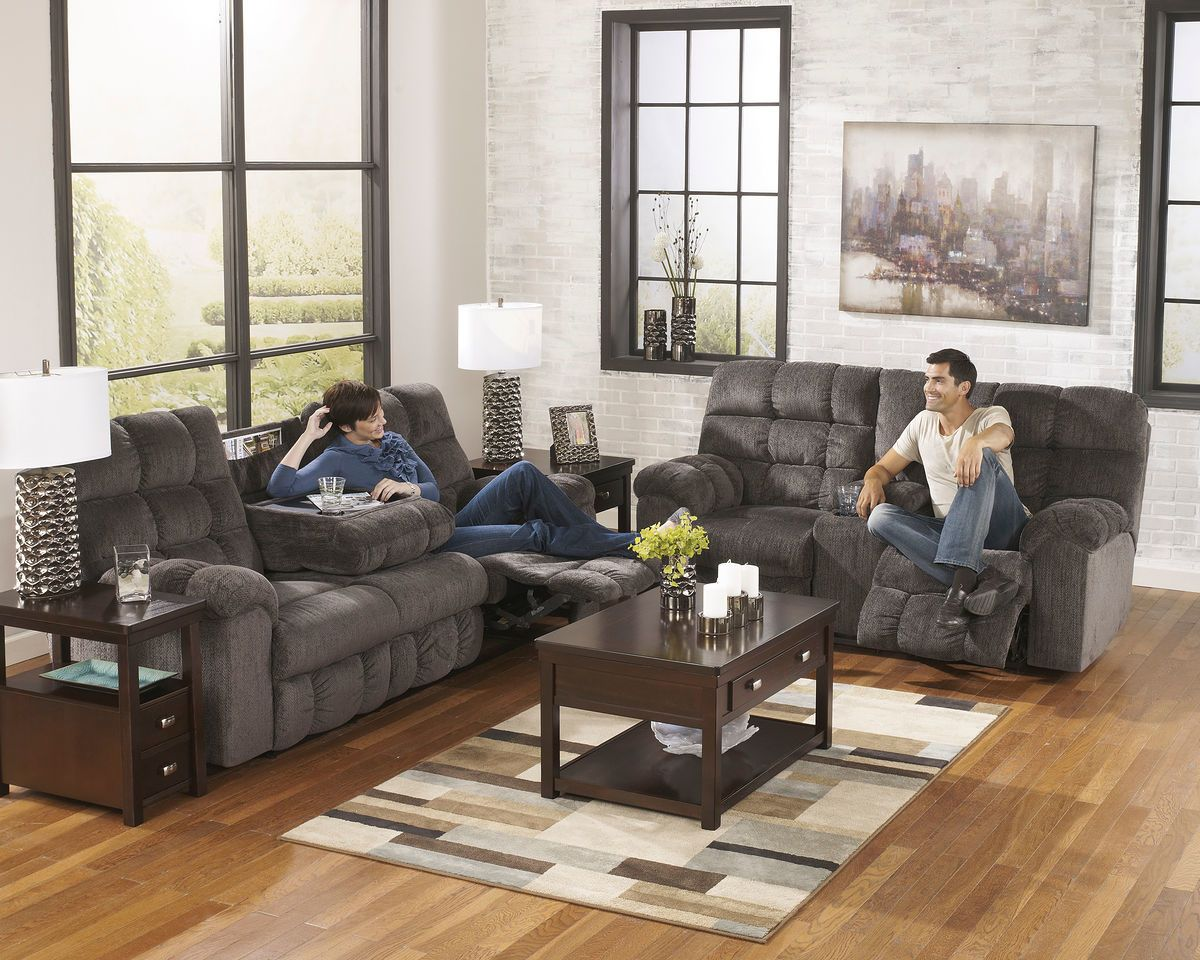 Awesome Ashley Acieona Slate 2 Pc Reclining Sofa With Drop Down Pabps2019 Chair Design Images Pabps2019Com