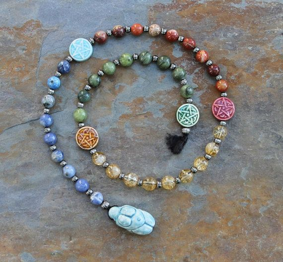 The Old Ways Pagan Prayer Beads Meditation by IndigoDesertMoon