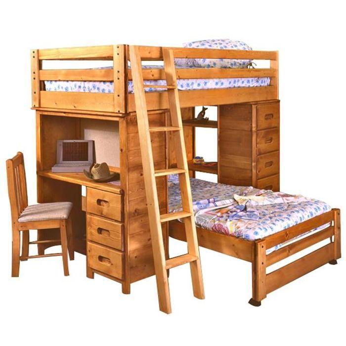 Twin over Twin Bronco Loft Bed Nebraska Furniture Mart