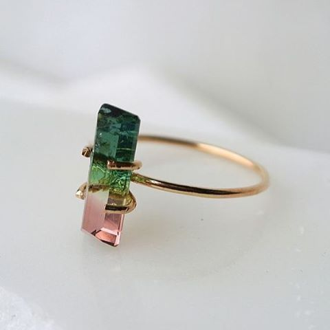 6403f065b I absoloutley adore this watermelon tourmaline ring   jewelry ...