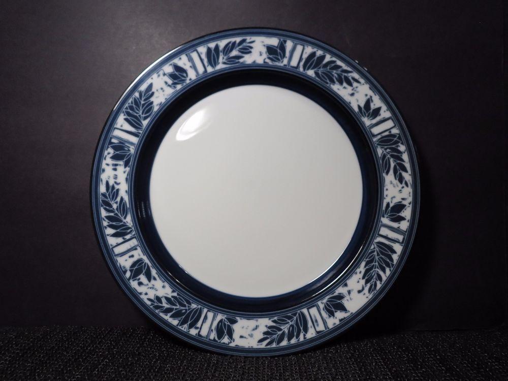 Dansk Ceylon (2) Dinner Plates Blue u0026 White Japan 10 7/8  & Dansk Ceylon (2) Dinner Plates Blue u0026 White Japan 10 7/8