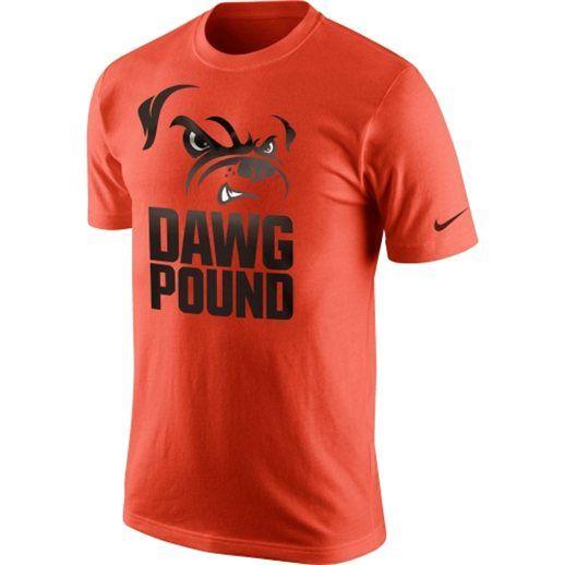 Nike Cleveland Browns Orange Dawg Pound T-Shirt  c57b09457