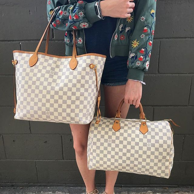75f42ab08db3 Louis Vuitton Damier Azur Neverfull MM   Speedy 35! Call text us at  813-382-9491 if you would like to purchase before they go online!