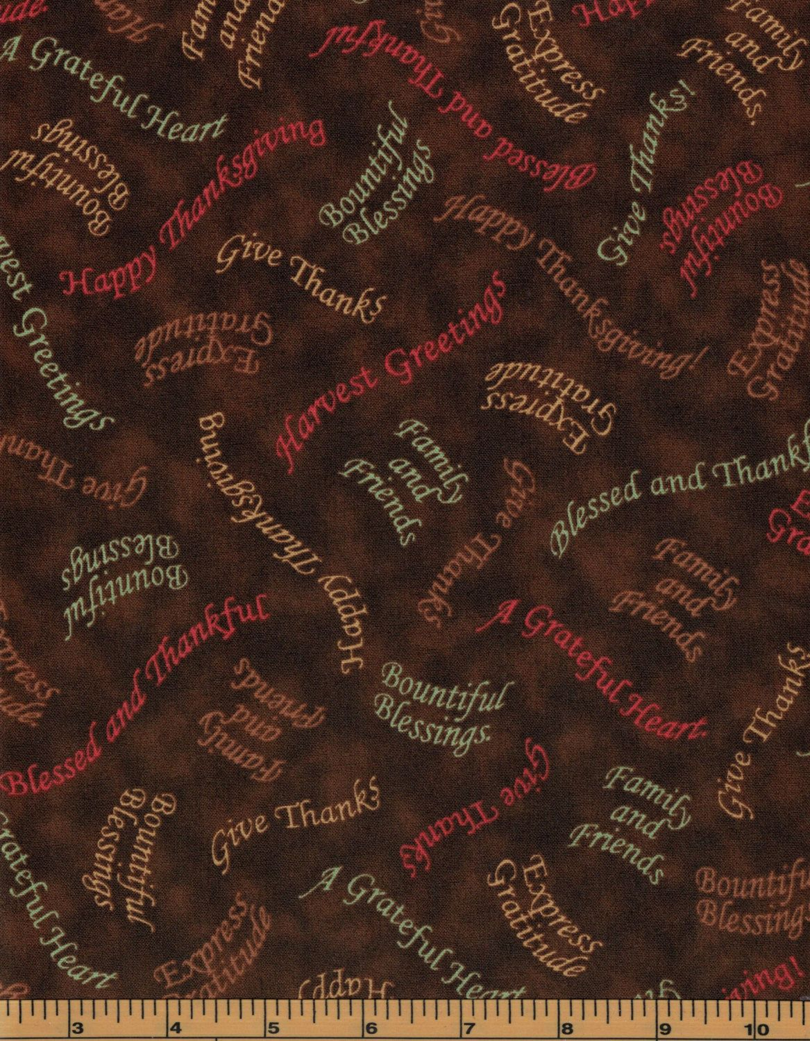 Thanksgiving Words - Bountiful Blessings Collection by Quilting ... : quality quilting fabric - Adamdwight.com