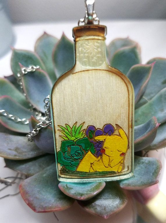 Bottled Pokemon Wood Pins made by Maddison Cherie -