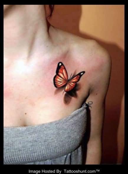25 Collar Bone Tattoos Inkdoneright Tattoos Butterfly Tattoos For Women Picture Tattoos