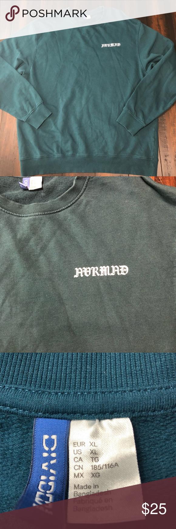 H M Avrmad Crewneck Sweatshirt Crew Neck Sweatshirt Branded Sweatshirts Sweatshirts [ 1740 x 580 Pixel ]