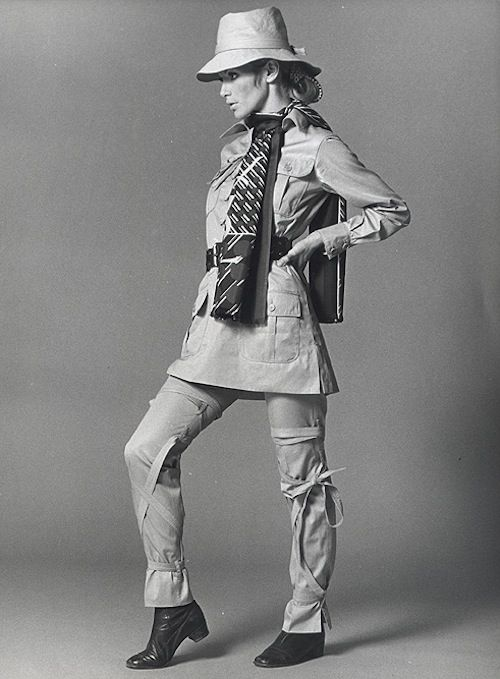 3ad398edf65 1968 - Yves Saint Laurent, Safari Suit, SpringSummer 1968 | Yves ...
