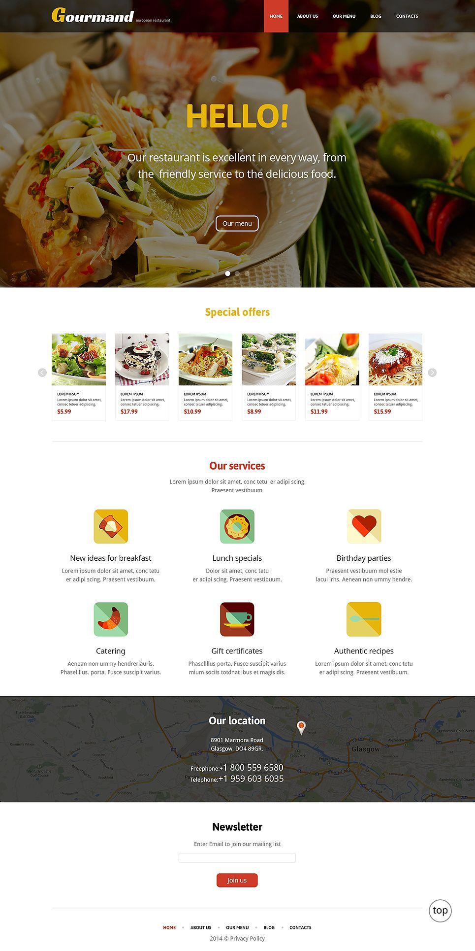 Gourmet Restaurant WordPress Theme 47709 Restaurant