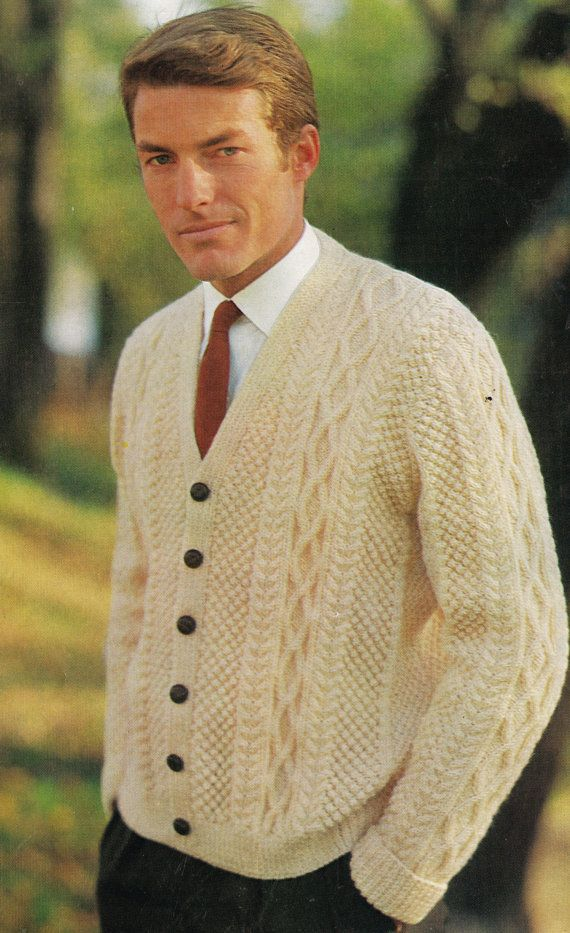 Mens aran style dk double knitting cable stitch by EnglishAran | Man ...
