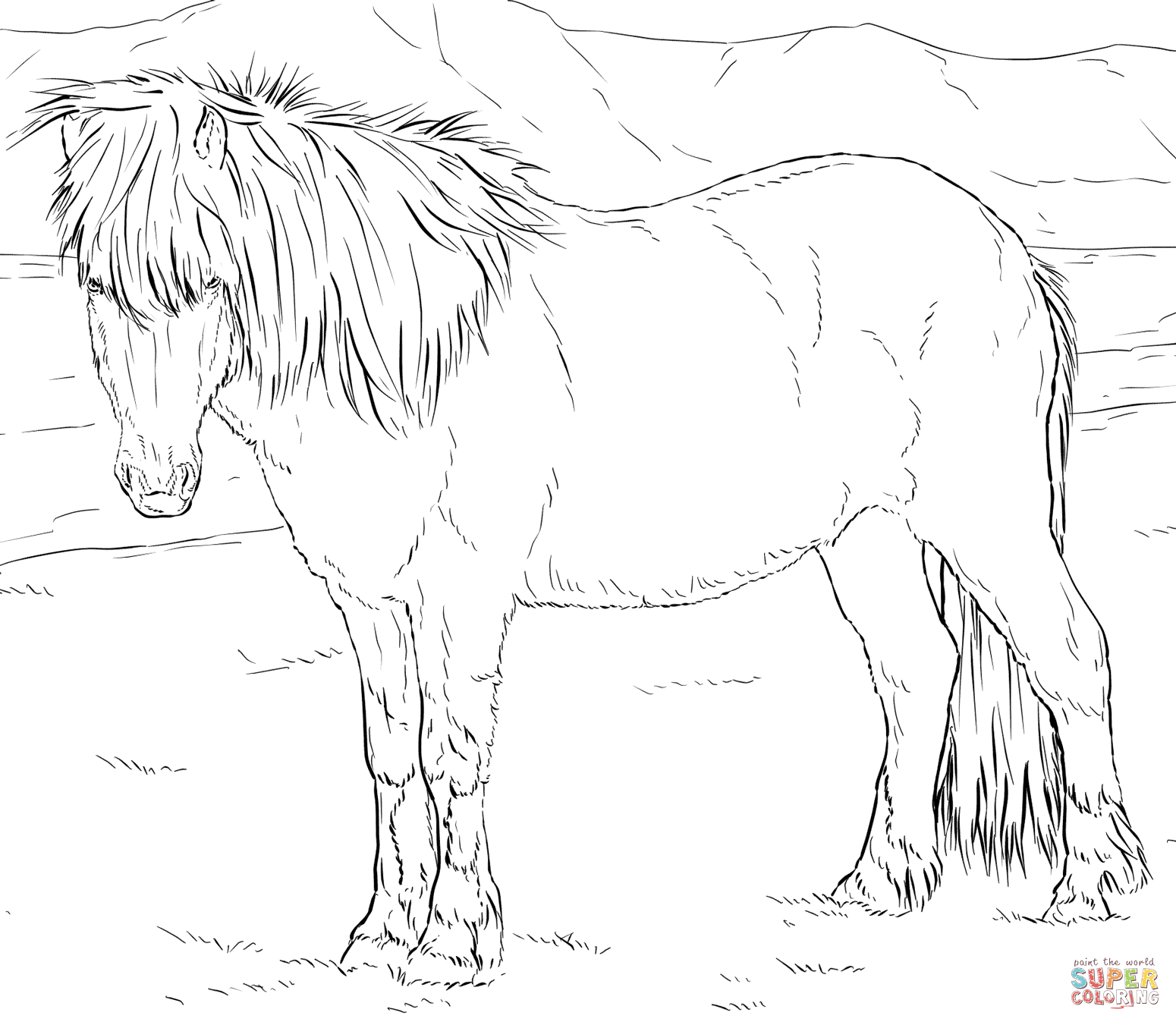 Horses coloring pages | Free Coloring Pages | Icelandic Horse ...