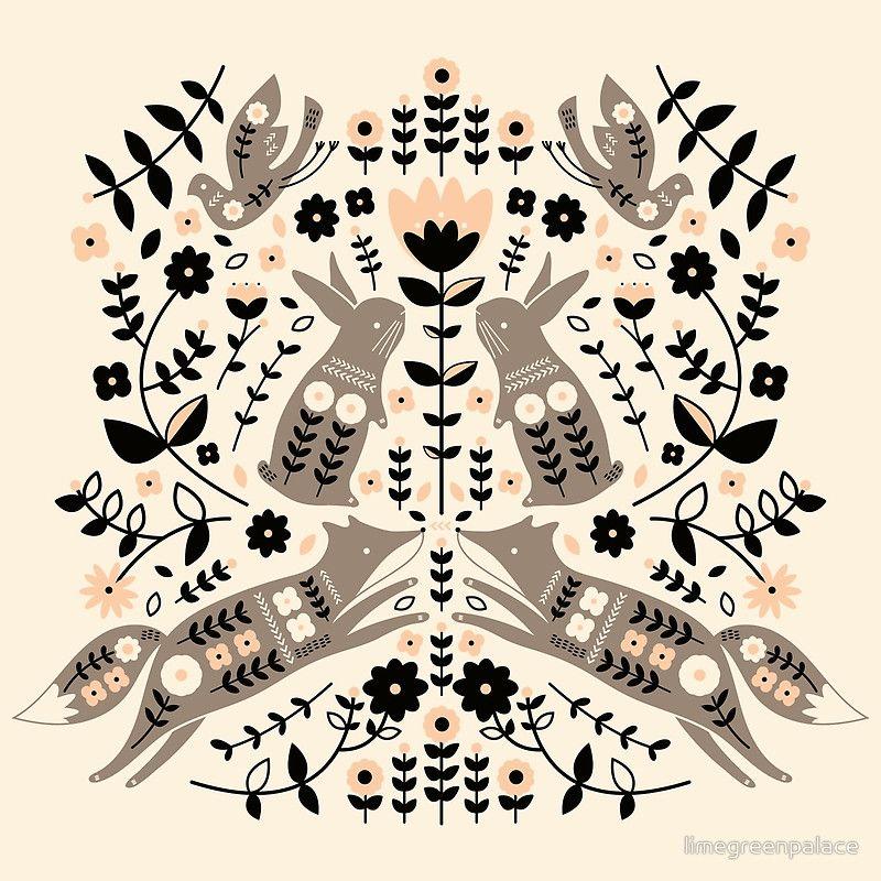Woodland Folklore Photographic Print By Limegreenpalace Folklore Art Scandinavian Folk Art Scandinavian Art
