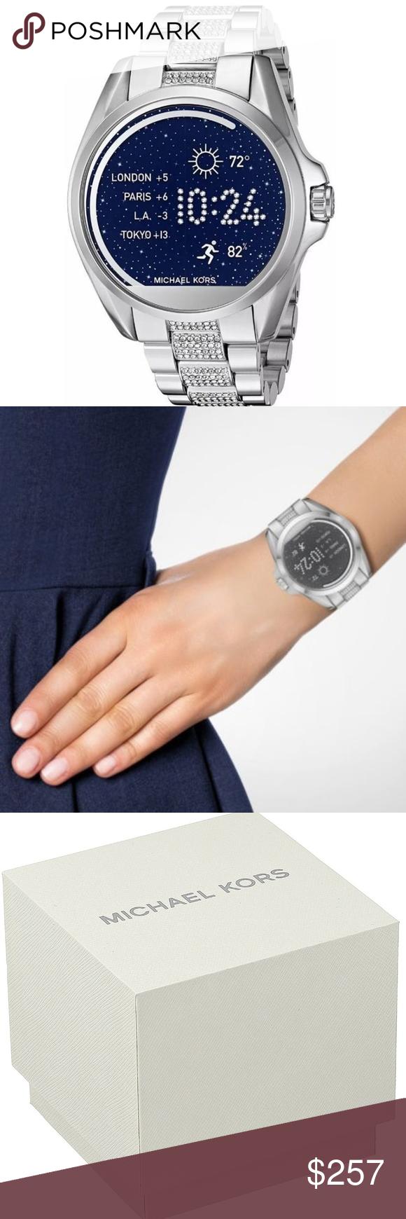 Michael Kors Unisex Silver Smart Watch MKT5000 MKT5000