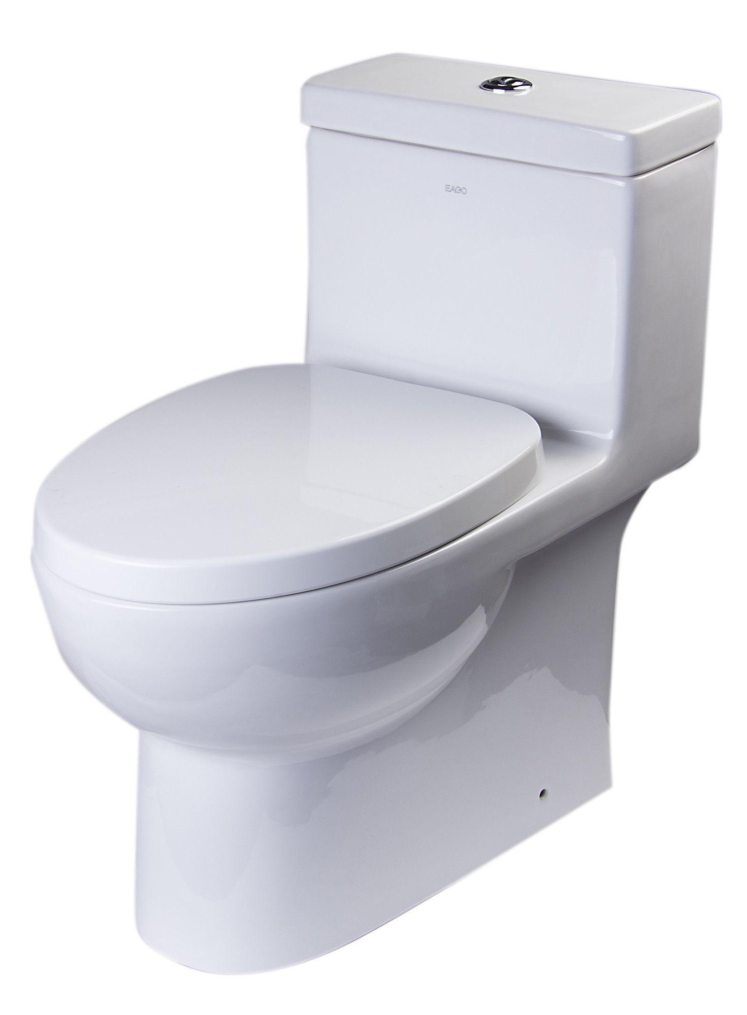 Eago tb359 dual flush one piece eco-friendly high efficiency low ...