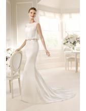 Perlenstickerei Elegantes Meerjungfrau Brautkleider aus Taft