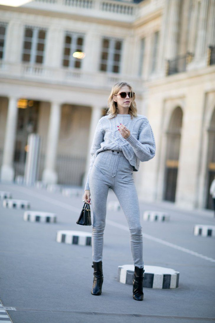 Pin for Later: The Best Street Style From All of Paris Fashion Week Paris Fashion Week, Day 3 Elena Perminova wearing Isabel Marant.
