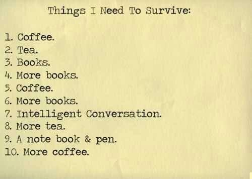 Cosas que necesito para sobrevivir ;D
