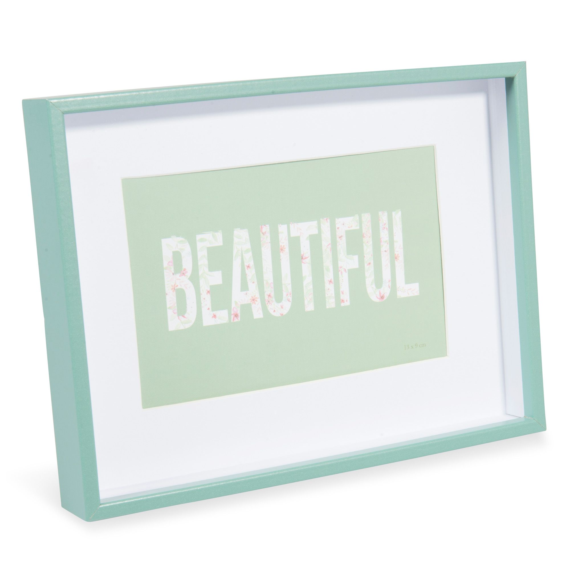 Marco de fotos de madera verde 15 x 20 cm FRANKLIN | Maisons du ...