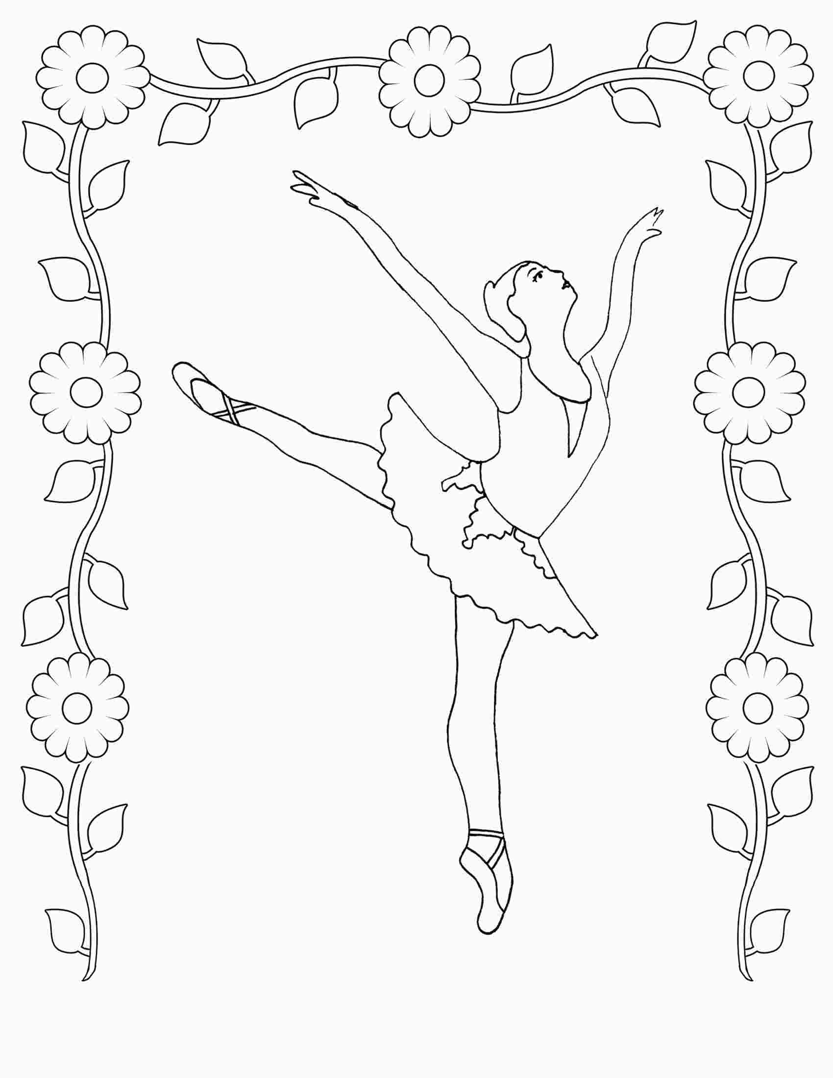 Ballet Dancer Coloring Page In 2020 Dance Coloring Pages