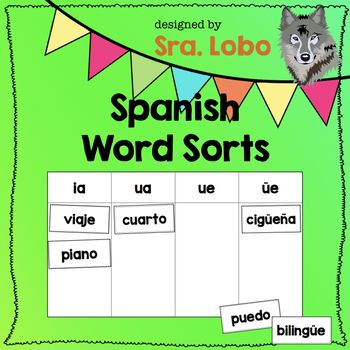 Spanish Word Sorts For The Classroom Pinterest Word Patterns