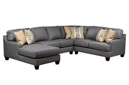 Best Chamberly 4 Piece Sectional W Laf Chaise Leather 400 x 300