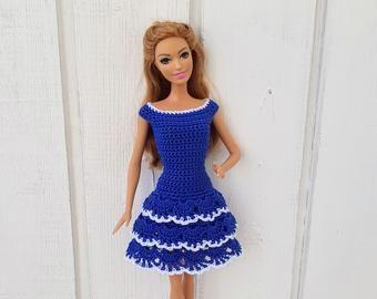 Barbie clothes Barbie Crochet Dress for Barbie Doll #crochetedbarbiedollclothes
