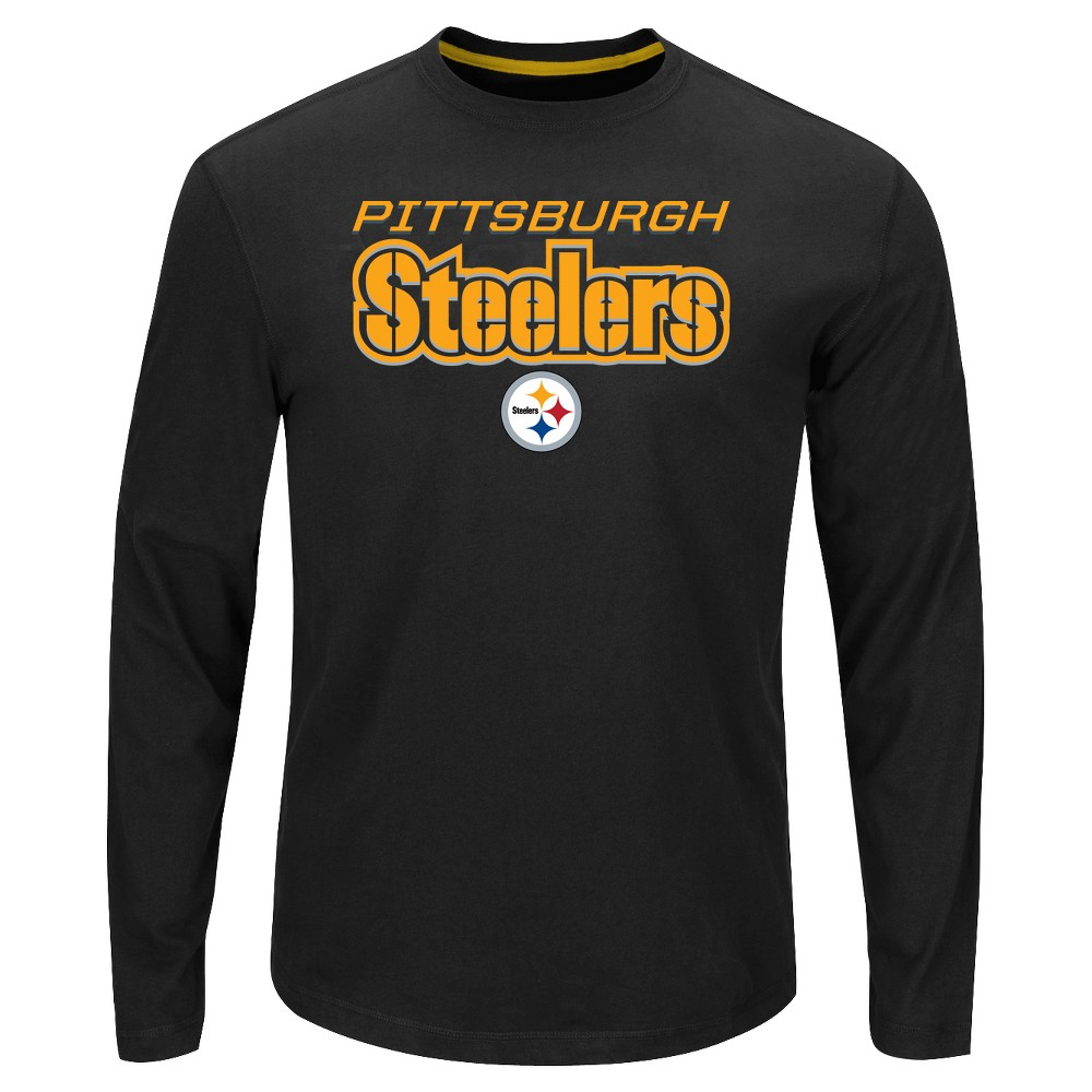 74f7e86a2 Pittsburgh Steelers Men s Big   Tall Long Sleeve Performance T-Shirt - 2XL