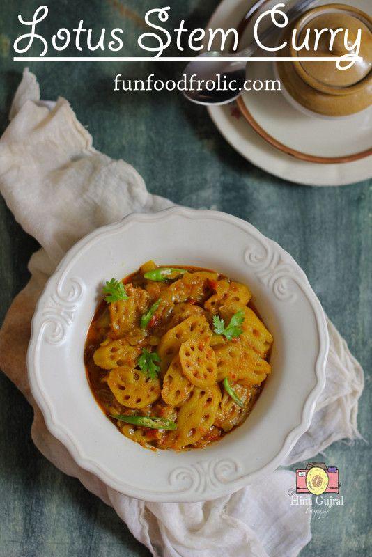 Kamal kakdi ki sabzi recipe indian style curry and lotus kamal kakdi ki sabzi indian vegetarian recipesindian food forumfinder Images