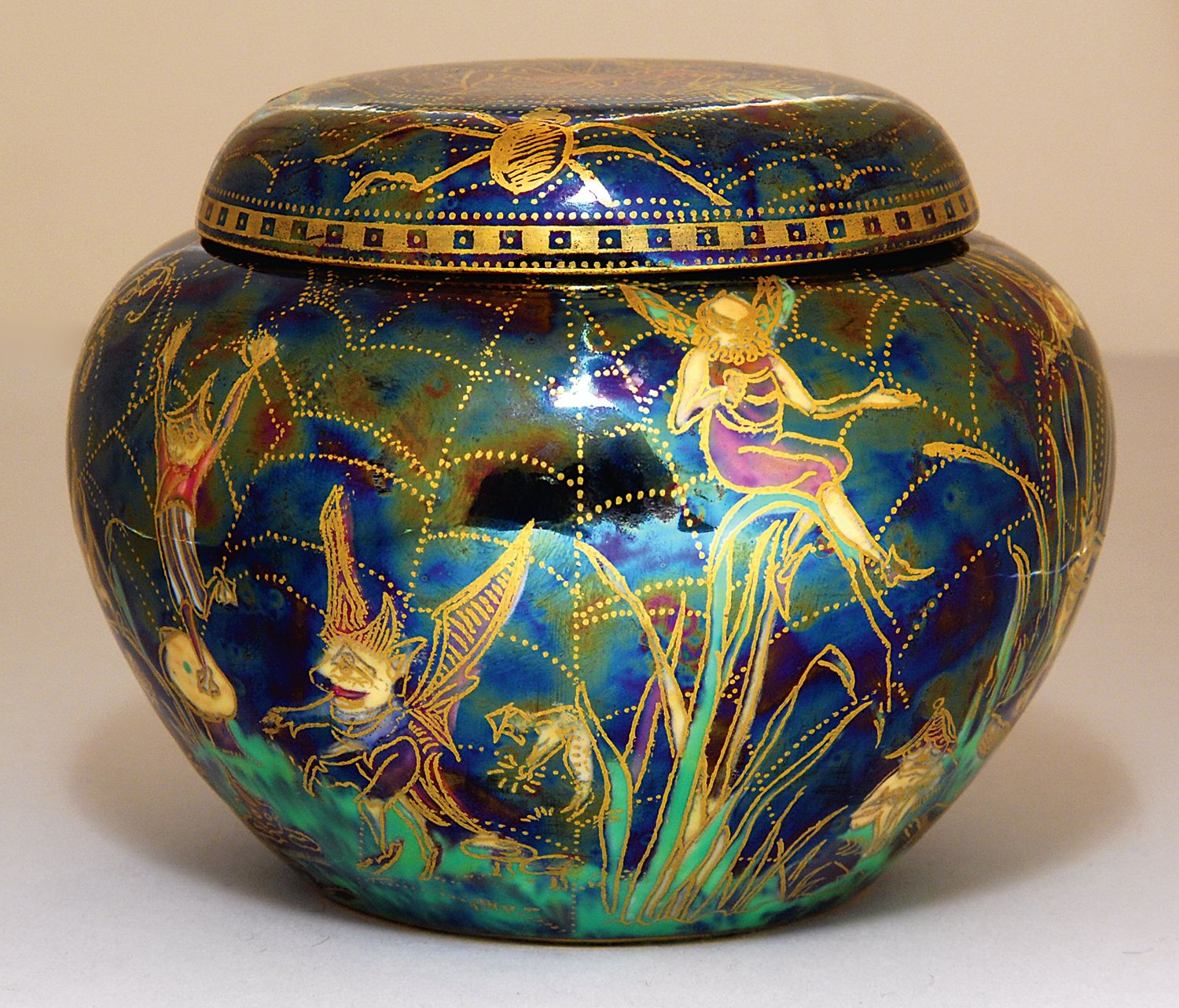 A Select Grouping Of Rare Wedgwood Fairyland Lustre