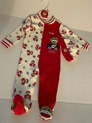 (Sponsored)eBay - Rashti & Rashti Sock Monkey Sleep-n-Play Footie Size 9 Months & Hat (3-6 months #sockmoneky