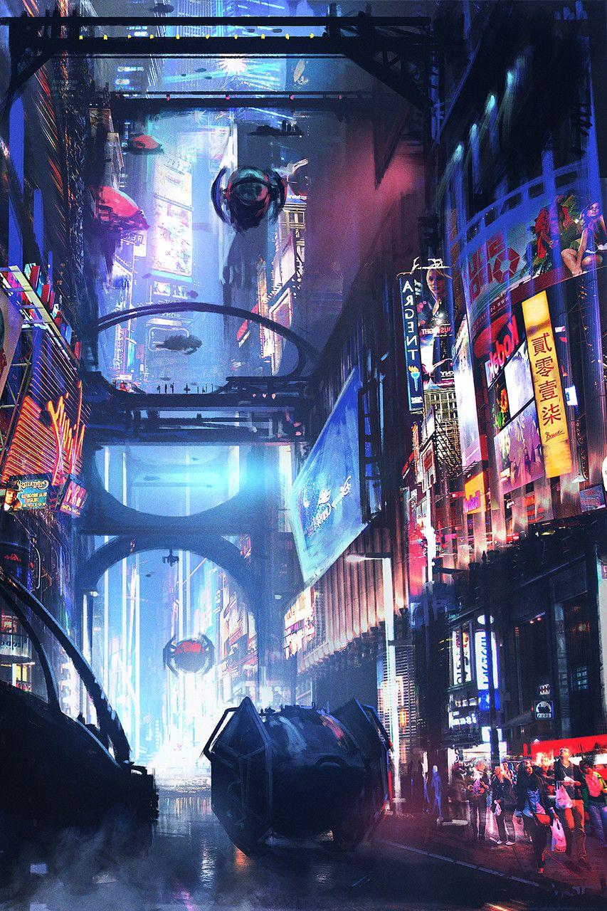 Daily sketch - future city, Bruce Liu