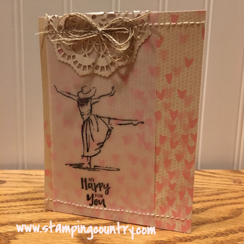 Beautiful You Stampin' Up!, So Happy For You, Prego Card, 2017 Occasions Catalog