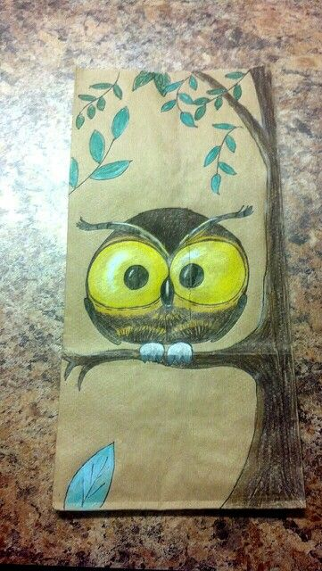 Lunch Bag Art Paper Bag Decoration Drawing Bag Brown Paper Lunch Bags