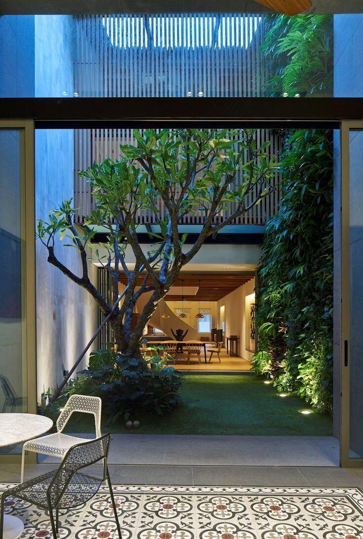Jardim de inverno com rvore design pinterest jardim for Cascadas para patios