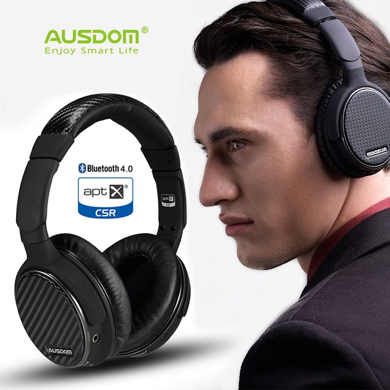 4a4d16c063f 2017 ausdom M05 headphones bluetooth 4.0 EDR aptx csr/hands-free, wireless  headset microphone for apple iphone