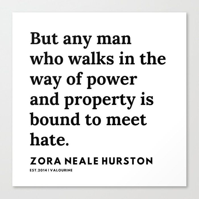 Zora Neale Hurston Quotes | 86 | 20062 | Black Writers | Motivational Quotes For Life| Canvas Print by Quotes And Sayings