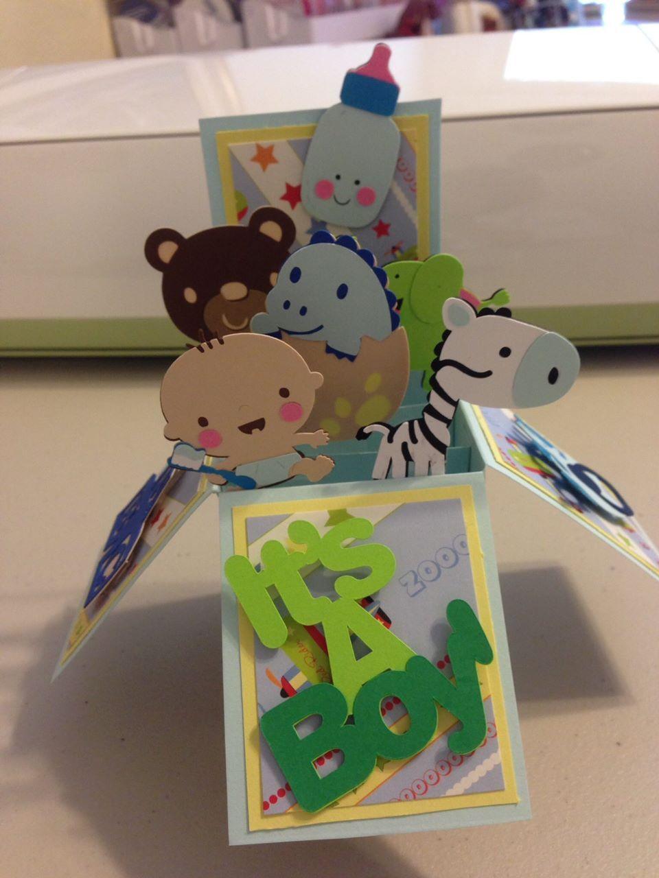 Cricut pop up baby card pop up box cards pop up cards