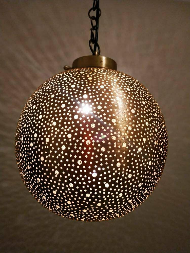 Chandelier Moroccan Handmade Light Vintage Lamp Home Decor Brass
