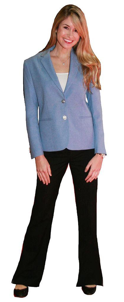 4c51e783c2596 carolina light powder blue blazer for women