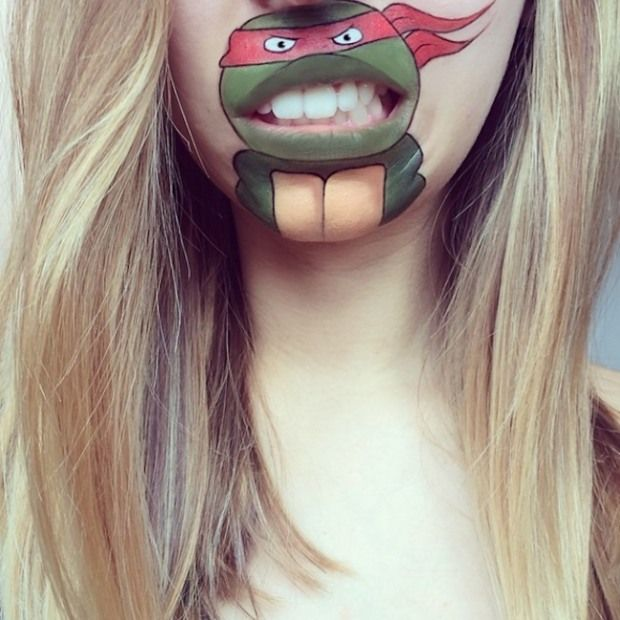 innovative artwork on lips by Laura Jenkinson | boy face paint ...
