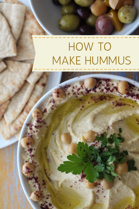 A simple recipe for making hummus at home.  Recipe:  http://thetravelbite.com/travel_and_food_blog/recipe-homemade-hummus-2/