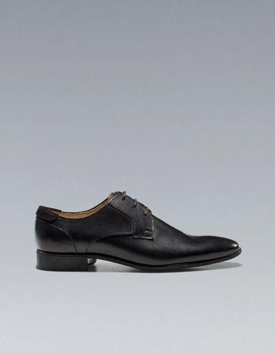 SMOOTH LEATHER BLUCHER - Shoes - Man - ZARA United States