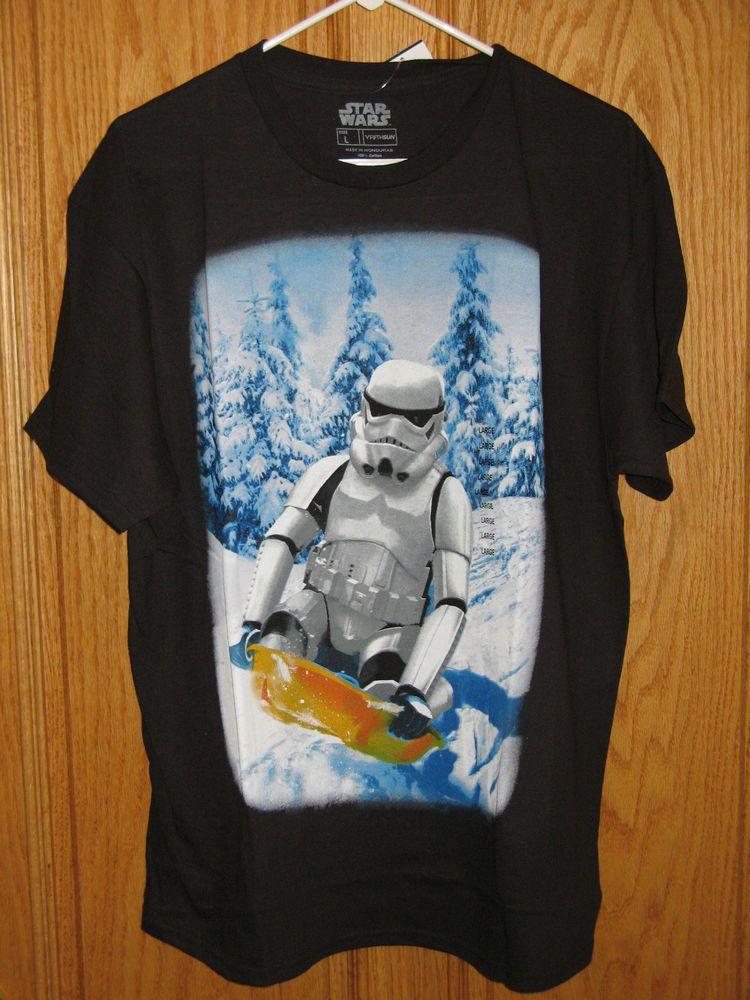 Mens Black Star Wars Size S,M,L,XL XXL Saber Logo T-shirt