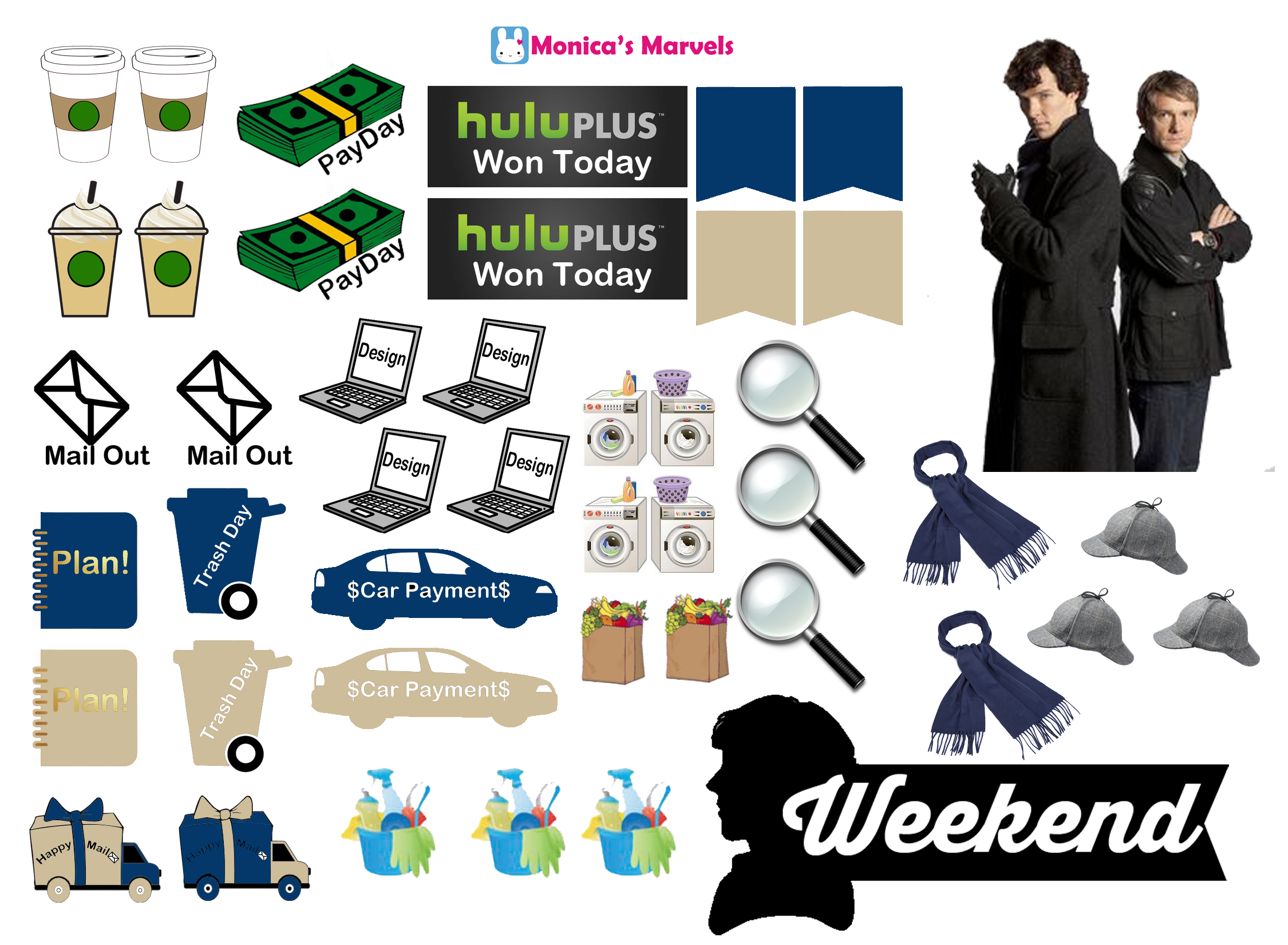 Sticker kit sherlock functional sheetthe happy planner by mambi sticker free printable sticker layout may be subject to copyright not intended for