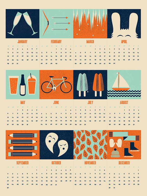 Typography Calendar Creative : Cool creative calendar design ideas for