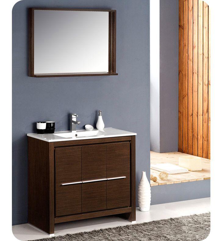 Fresca Fvn8136wg Allier 36 Modern Bathroom Vanity With Mirror In