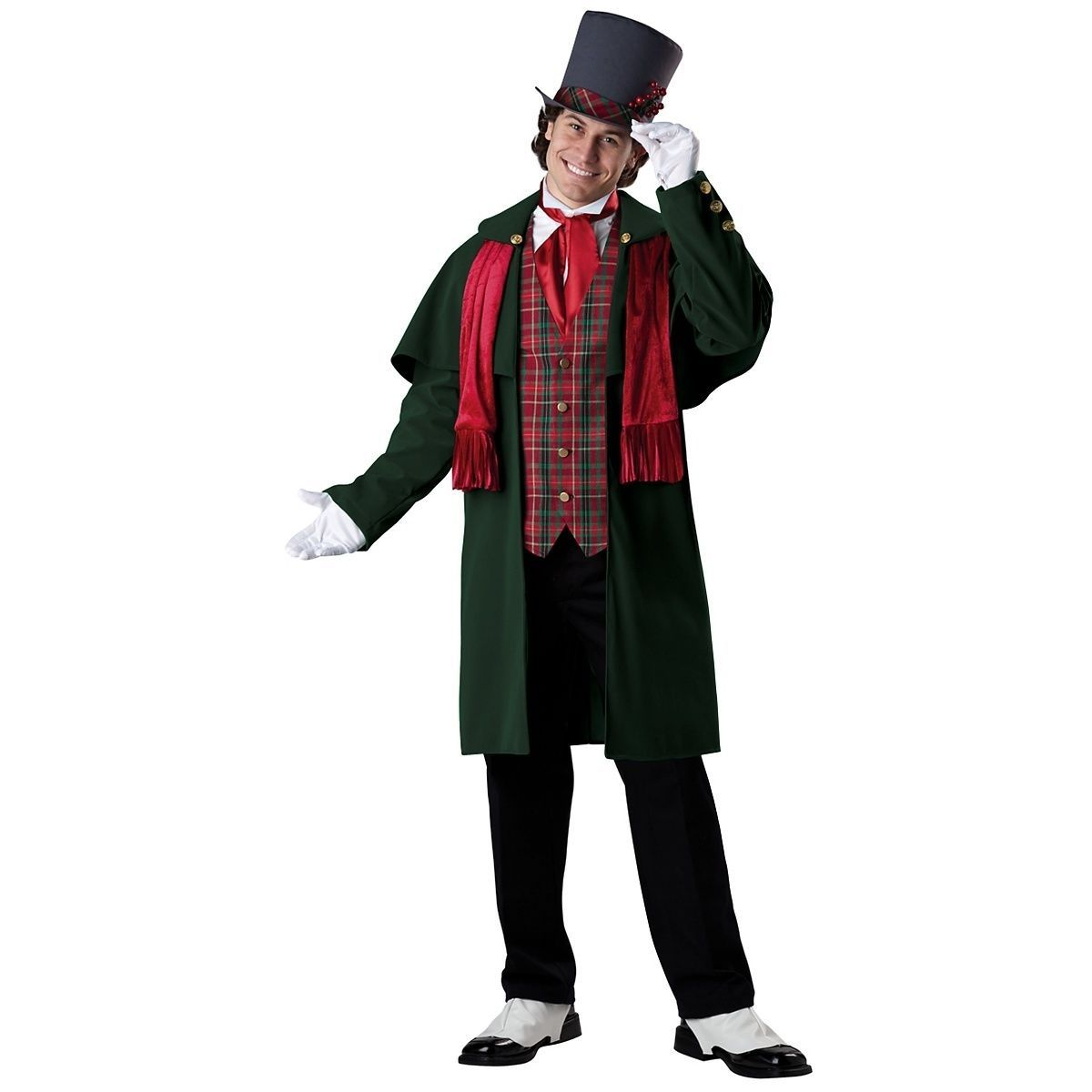 Holiday Caroler Girl Child Christmas Holiday Victorian Dickens Costume XS-XL