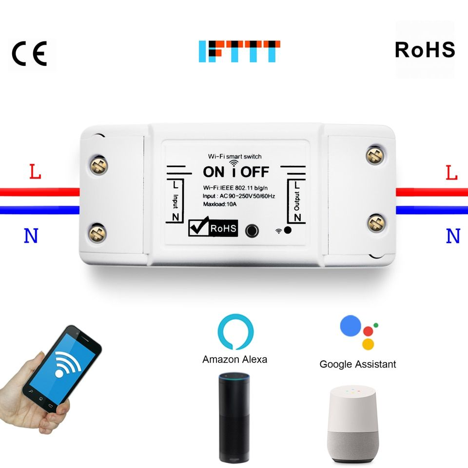 2 4g Wifi Switch Diy Wireless Remote Domotica Light Smart Home Automation Relay Module Controller Work Wit Smart Home Automation Home Automation Smart Switches